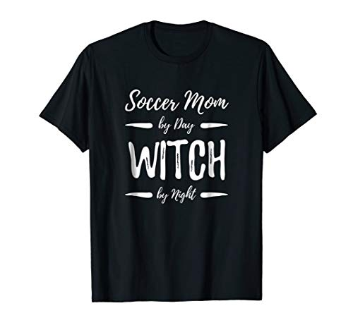 Soccer Mom Witch T-Shirt Funny Halloween Costume Gift for $<!--$17.99-->