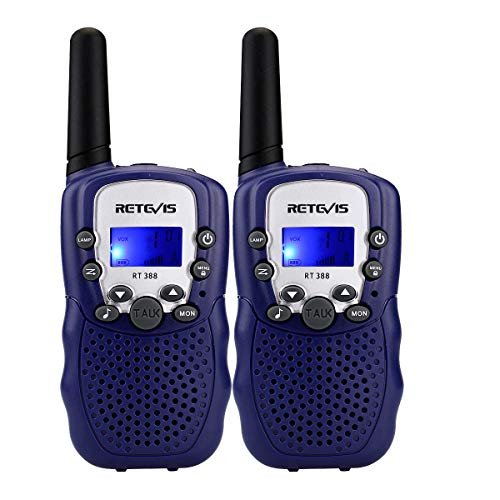 Retevis RT-388 Kids Walkie Talkies Boys License Free 22CH FRS Toy Walkie Talkies(Blue, 2 Pack)
