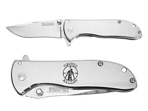 Zombie Killer T&B engraved Mirror Finish TAC-Force TF-861C Speedster Executive Model Folding Pocket Knife by NDZ Performance