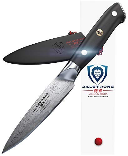 DALSTRONG Paring Knife - Shogun Series - AUS-10V- Vacuum Heat Treated Japanese Super Steel- Vacuum Treated - 95mm - Guard Included Dalstrong Inc SSPar