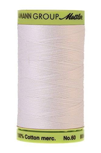 Mettler Fine Embroidery Thread - Mettler Silk-Finish Cotton Embroidery Thread, 875 yd, White