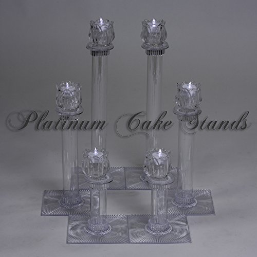 Cake Stand Glass Candle Votive Set 6 Tier (STYLE 134) ()