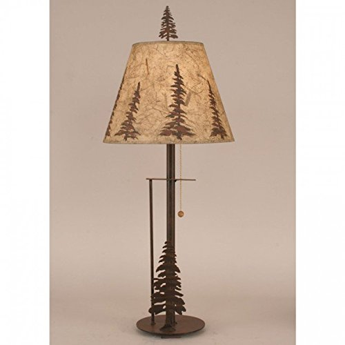 Pine Tree Floor Lamp - Coast Lamp Manufacturer 12-R33B Rust Pine Tree Buffet Lamp - 29.5 in.