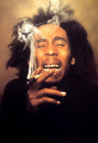 Amazon com: Bob Marley Poster, Laughing, Smoking a Spliff