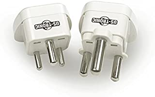 WATT&CO WAS-9 adattatore per presa di corrente Tipo C (Europlug) Universale Bianco