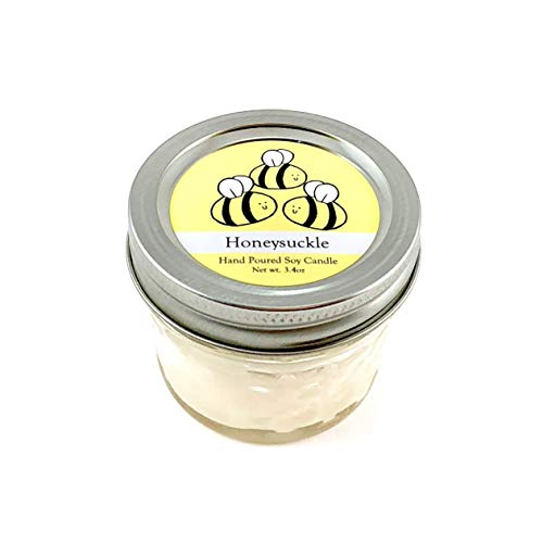 - Bumble Bee Conservation Candle - Honeysuckle Scent   Wildlife Conservation All-Natural Vegan Soy Candle