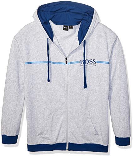 Hugo Boss BOSS Men's Authentic Full Zip Hooded Jacket, Medium Grey, L