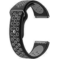 Black grey sport Silicone band strap for fitbit versa nike bracelet versa movement wrist band watchband