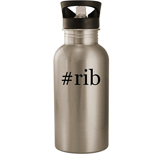 Prime Recipes Rib (#rib - Stainless Steel 20oz Road Ready Water Bottle, Silver)