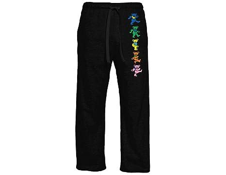 4031736da Ripple Junction Grateful Dead Adult Unisex Dancing Bears Vertical Light  Weight Pocket Lounge Pants XS Black