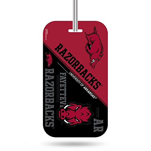 Arkansas Razorbacks Ncaa Crystal (NCAA Arkansas Razorbacks  Crystal View Team Luggage Tag, Red, Black, 7.5-inches by 3-inches by 0.5-inch)