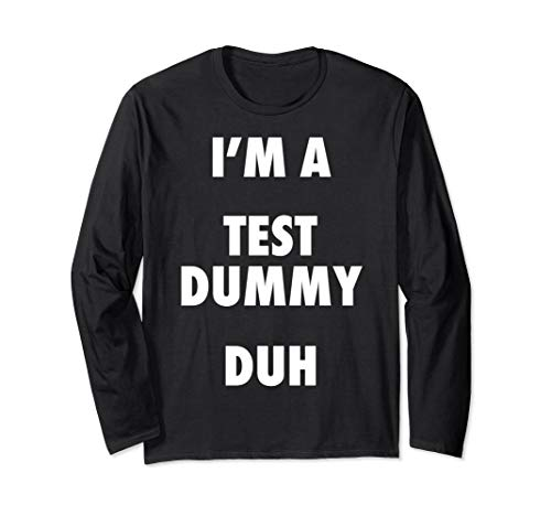 Easy Halloween Test Dummy Costume Long Sleeve Shirt -