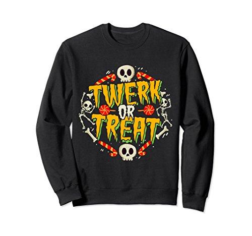 Funny Halloween Costume Sweatshirt Twerk or Treat -