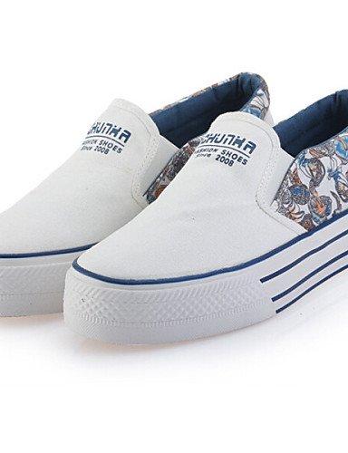 Redonda Eu36 Blanco Mujer Grey Casual Cn39 De Grey us8 Zq us5 Moda Eu39 Uk6 Gris Sneakers Cn35 Plano La Uk3 Azul Punta Zapatos 5 Tacón 5 Tejido A qSw6Y