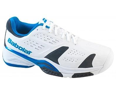timeless design 11368 0f5a6 BABOLAT SFX Team All Court Men s Tennis Shoe, White Blue, ...