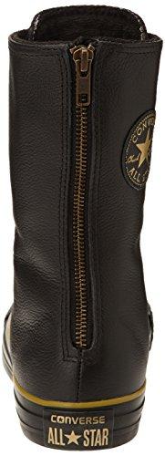 Converse All Star X-Hi Zip Leather - Zapatillas para mujer, color black/dark gold, talla Black/Dark Gold