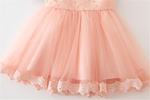 Coozy Baby Girls Dress Infant Princess Christening Baptism Party Birthday Formal Dress (Pink (Style 3), 3M/0-6months) by Coozy (Image #3)