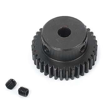 1M-35T 6mm Bore Hole 35 Teeth 35T Module 1 Motor Metal Gear Wheel Top Screw