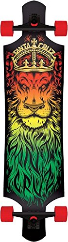 Santa Cruz Lion God Rasta Drop Thru Cruzer Freeride Longboard Deck Complete 40″