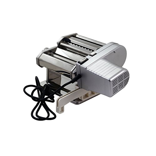 Yunko Electric Pasta Maker Machine with Motor Set Stainless Steel Pasta Roller Machine For Homemade Lasagne Fettuccine Tagliolini Dismountable Cutter Silver by YunKo (Image #3)