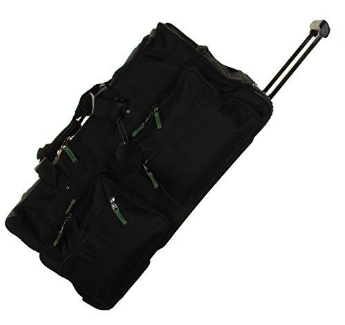Gilbin 1800 Denier Heavy Duty Luggage Rolling Cargo Duffel,Camp Wheeled Soft Trunk Outdoor Travel