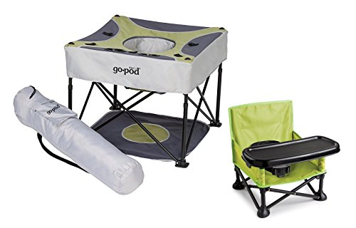 KidCo Go Pod Portable Activity Seat with On The Go Booster, Pistachio