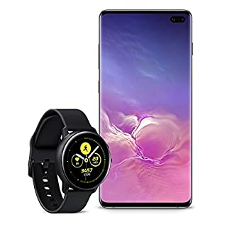 Samsung Galaxy S10+ Plus Factory Unlocked Phone with 1TB (U.S. Warranty), Ceramic Black with Galaxy Watch Active (40mm), Black - US Version with Warranty