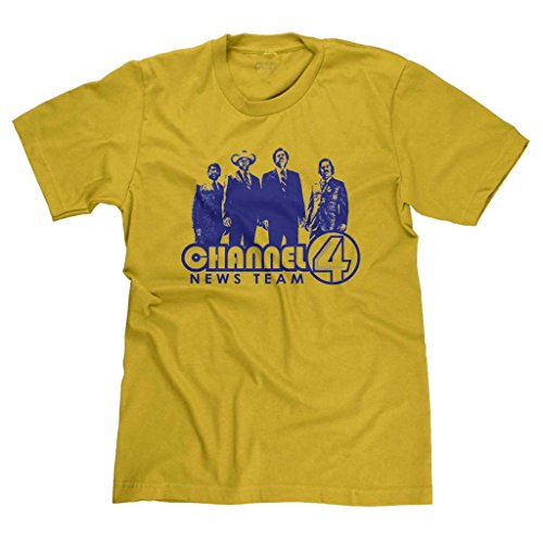 FreshRags Channel 4 News Team Anchorman Men's T-shirt Gold 3X