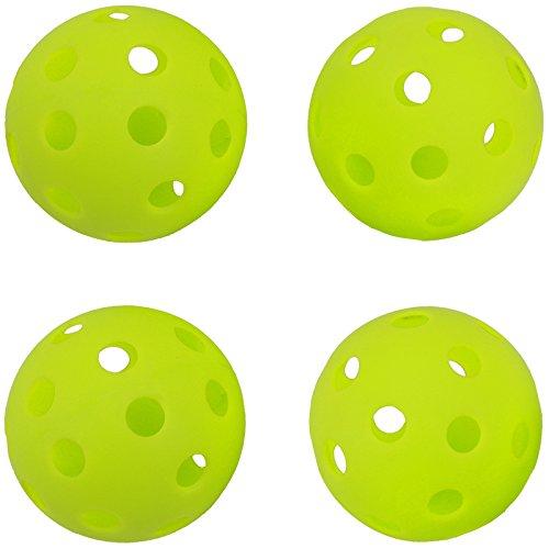 GP (G pea) 야구 batting 트레이닝 볼 구멍난 PE소재 형광록 72mm [6개/24개/48개]