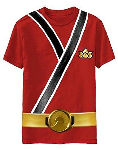 Power Rangers SAMURAI Ranger RED Uniform Monster Toddler T-shirt (Toddler Small 4T) -