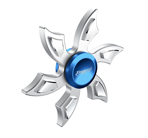 Newest Hands Spinner,Enow Pure Aluminum High Speed Fidget focus toys.Perfect for ADHD, EDC Children and Adults to Increase Concentration, Quit Bad Habits. Spins Metal Average 1-5 Minutes