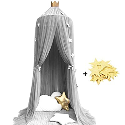 Didihou Mosquito Net Bed Canopy Yarn Play Tent Bedding for Kids Playing Reading Dome Netting Curtains Baby Boys and Girls Games House