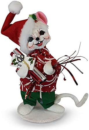 Annalee Dolls 2019 Christmas 6in Swirl Gift Mouse Plush New with Tag