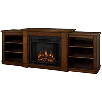 Real Flame Hawthorne Electric Fireplace TV Stand in Burnished Oak