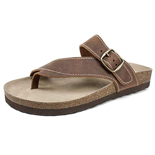 - WHITE MOUNTAIN Shoes Carly Women's Sandals, Brown/Leather, 7 M
