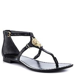 GUESS Women's Rafiya Medium Brown Leather Sandal 8.5 M