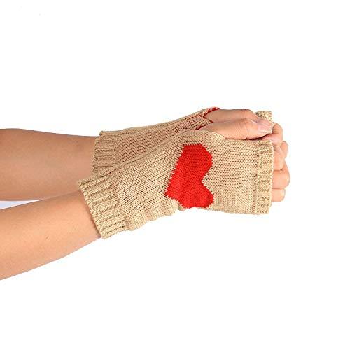 Winter Wrist Arm Hand Keep Warmer Knitted Long Fingerless Gloves Mitten Comfortable Gloves