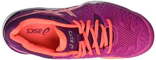 Zapatillas Asics Berry Coral de Resolution 6 Mujer para Flash Tenis Gel W 2106 Multicolor Plum xxqfIA