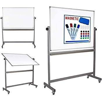 Amazon Com Magnetic Mobile White Board Dry Erase Board