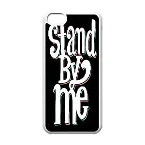 {Pop Art Series} IPhone 5C Cases Typography Stand By Me, Cute Design Case Nuktoe - White