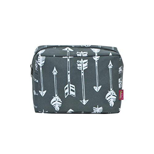 (N. Gil Large Travel Cosmetic Pouch Bag 2 (Arrow Grey))