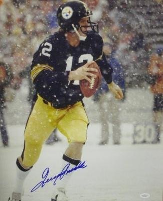 Bradshaw Autographs - Terry Bradshaw Autographed Photograph - 16x20 Coa Authentic - JSA Certified - Autographed NFL Photos
