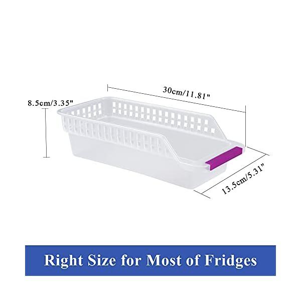 41DK5wbZ3bS Kühlschrank Organizer, JRing Kühlschrankbox 6 Stück Kühlschrank Container Aufbewahrungsbox Schubladen Pantry Lagerung…
