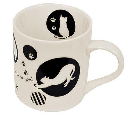 Taza de gato negro taza y # x3000; Ciervo gatos Series y # x3000;