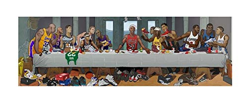 "NBA Stars Last Supper Art Print 16x50 20x62 24x72 (16""x50""(40x127cm.))"