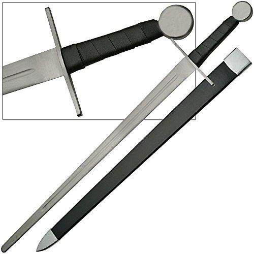 Knights Full Tang Longsword Blunt Battle Ready Functional Sword 1075 HC Steel