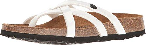 Betula Licensed by Birkenstock Women's Vinja White Patent 1 (Betula Cork Sandals)