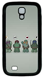 Funny Tmnt Teenage Mutant Ninja Turtles Custom Designer Samsung Galaxy S4 Case and Cover - TPU - Black