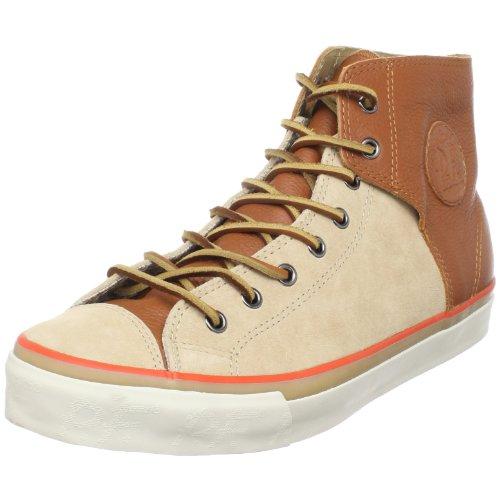 PF Flyers Unisex Bob Cousy Hi Sneaker,Tan,12 M US