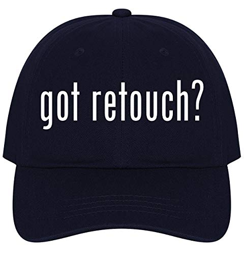 The Town Butler got Retouch? - A Nice Comfortable Adjustable Dad Hat Cap, Navy